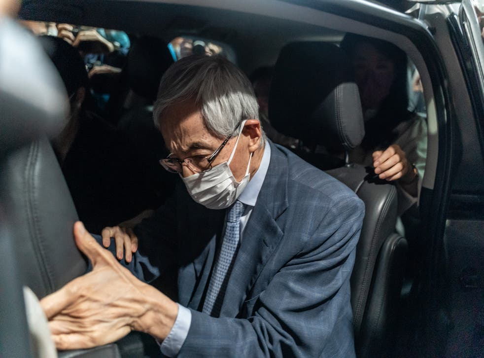 <p>File image: Former lawmaker and barrister Martin Lee leaves West Kowloon court after being given a suspended sentence on 16 April, 2021 in Hong Kong . He was among  the seven prominent democratic figures who were convicted of unauthorised assembly in relation to a peaceful protest in August 2019</p>