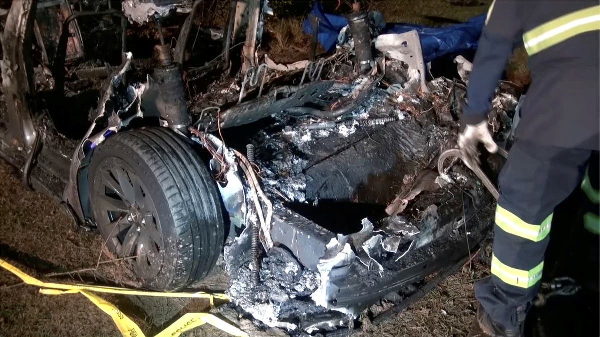 Tesla to be served search warrant over crash as Elon Musk denies autopilot was used