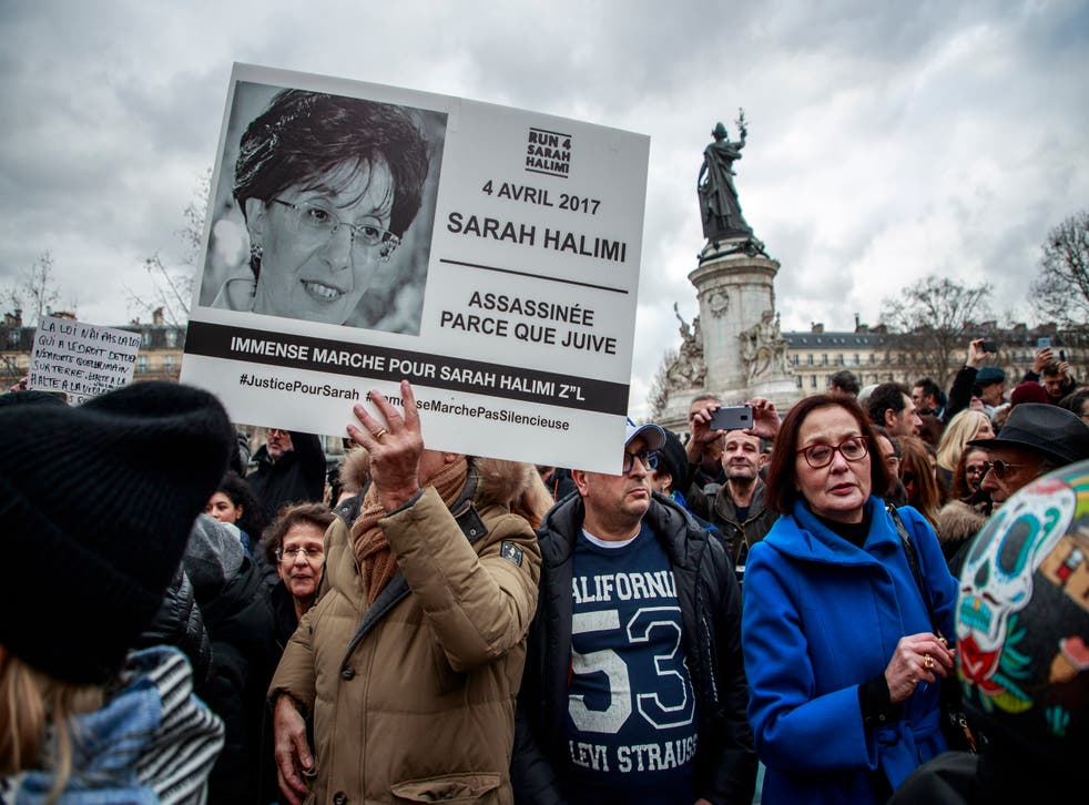 <p>Members of the French Jewish community gather at Place de la Republique last year demanding a trial for the murderer of Sarah Halimi. The 65-year-old Jewish woman was killed by a man that French Justice declared irresponsible for his acts and therefore cannot be tried for the antisemitic crime</p>