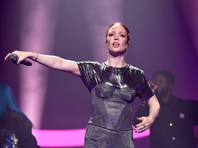 Glynne on stage in 2019