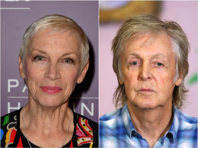 Annie Lennox and Sir Paul McCartney are two of the artists to have signed the document
