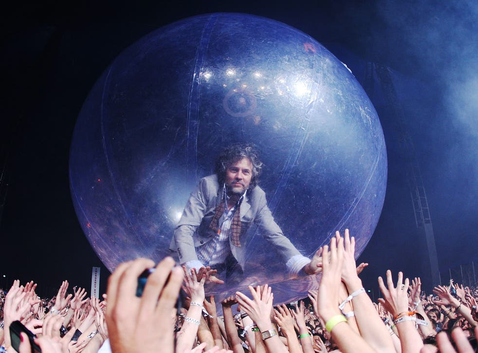 <p>The new normal? Wayne Coyne of The Flaming Lips at a music festival in Australia</p>