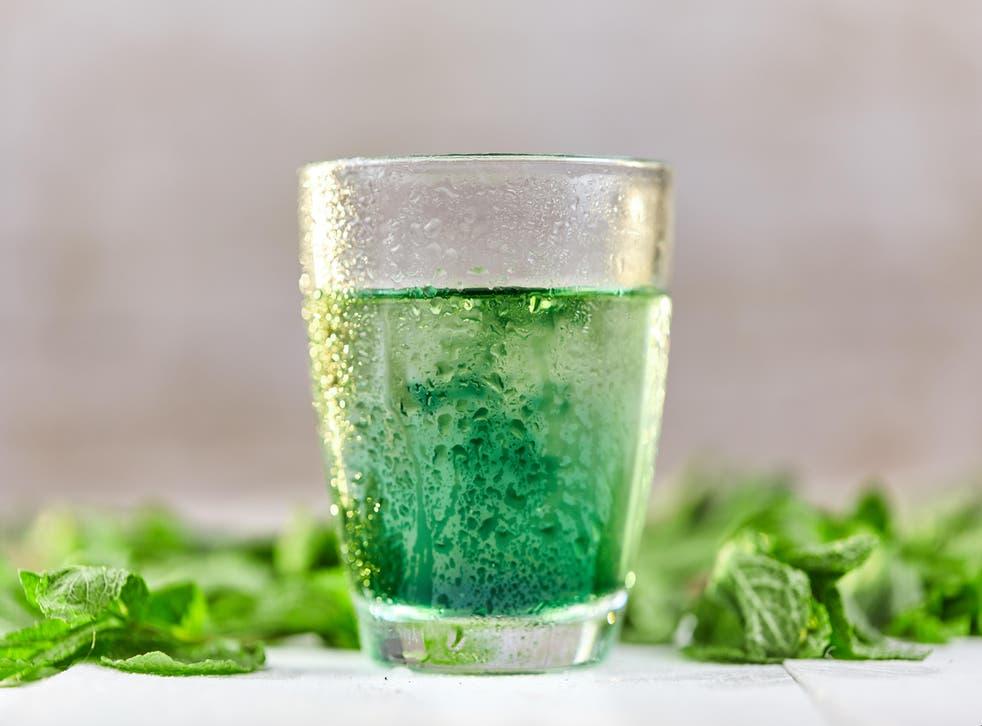Liquid chlorophyll in water