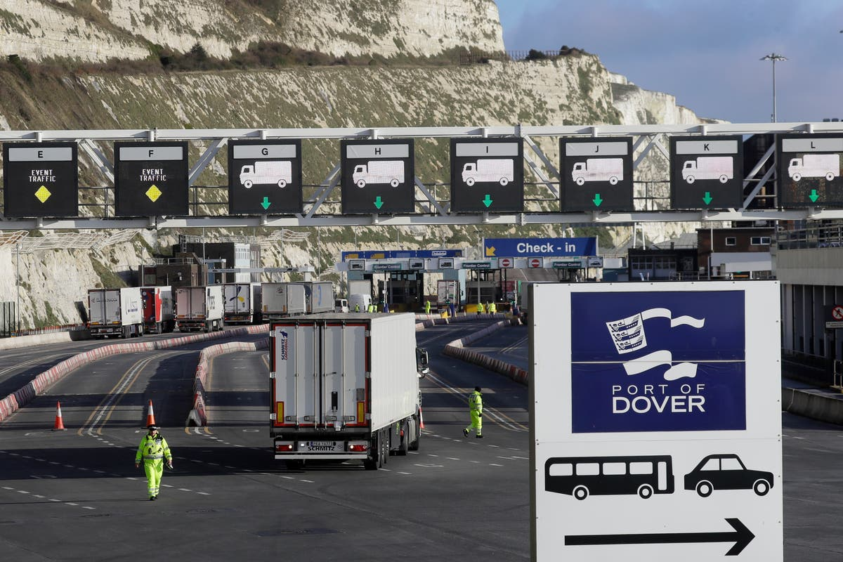 UK lifts post-Brexit permits for truckers as trade recovers Channel Tunnel England Europe Kent Dover