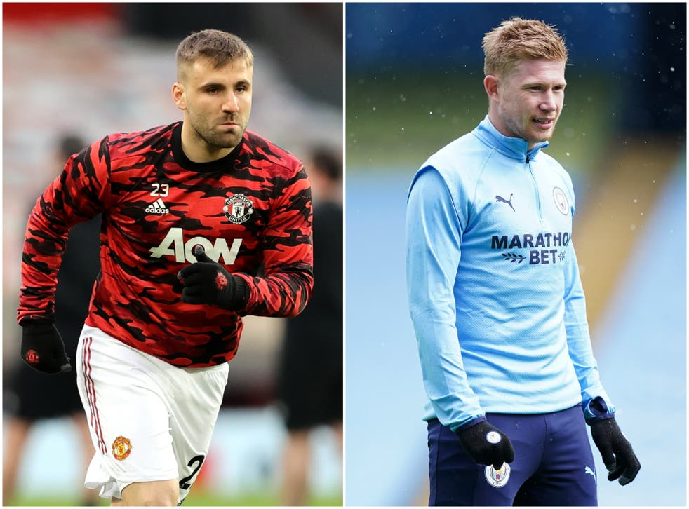 Luke Shaw and Kevin De Bruyne