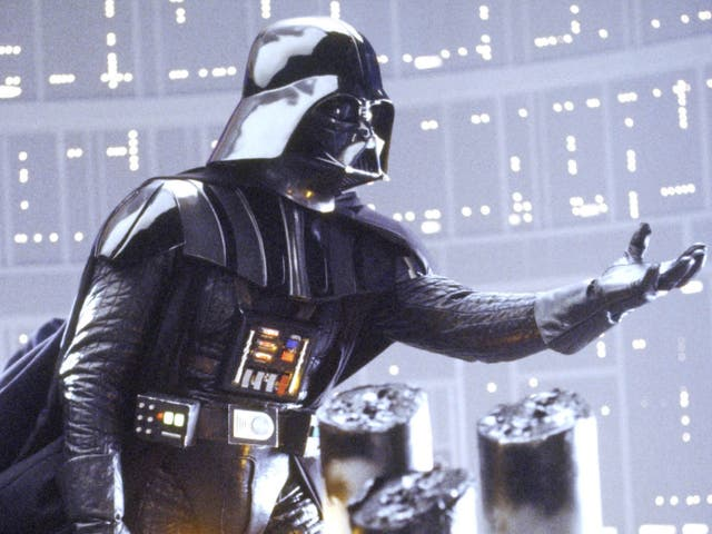 Darth Vader as seen during the climactic moment of Empire Strikes Back