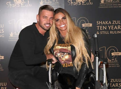 <p>Katie Price and fiancee Carl Woods in September 2020</p>