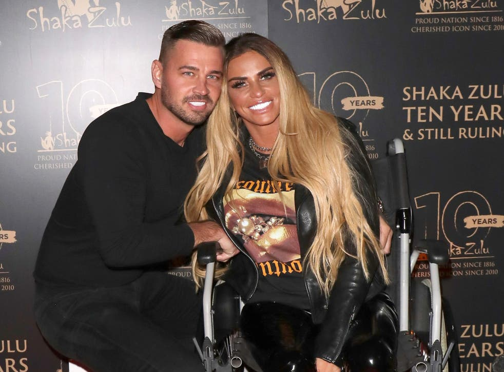 Katie Price and fiancee Carl Woods in September 2020