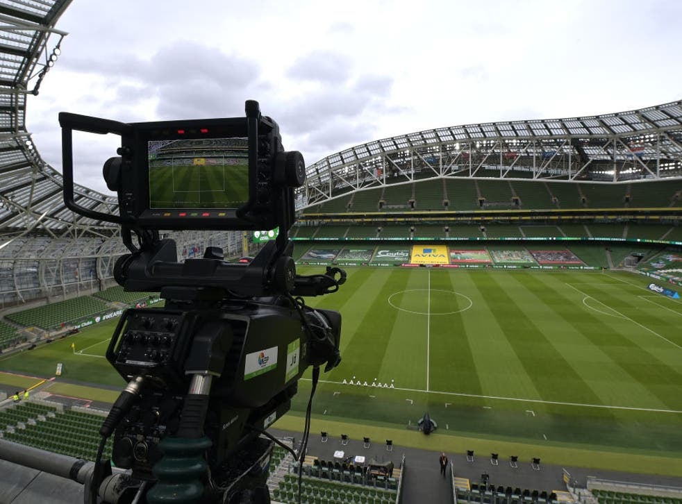 <p>The Aviva Stadium could be off the list of hosts for the Euros</p>
