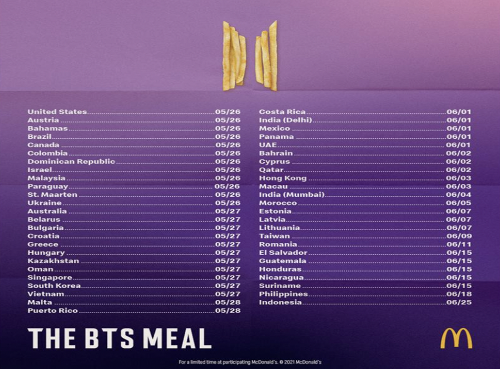 McDonald's announces new BTS meal | The Independent