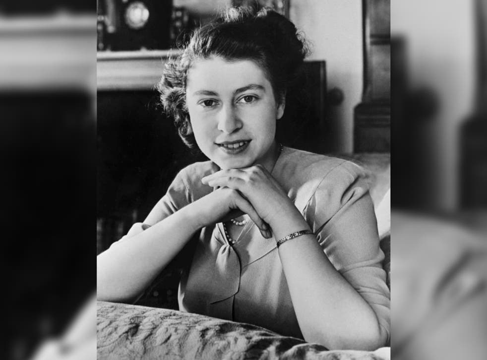 <p>An official portrait of the then Princess Elizabeth to mark her 21st birthday</p>