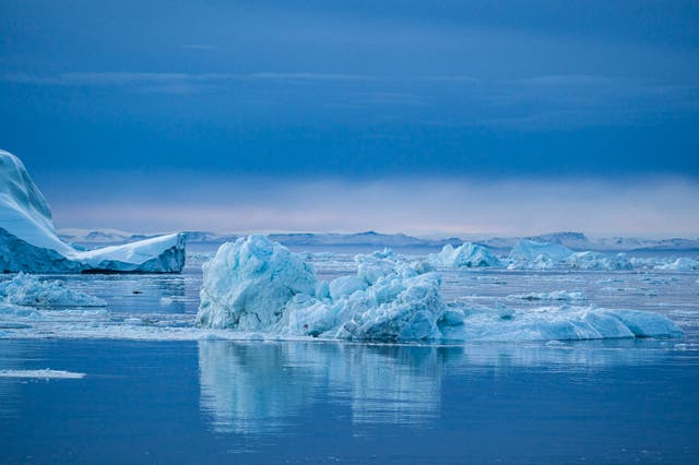 <p>Global heating is causing prehistoric ice caps to retreat in Greenland</p>
