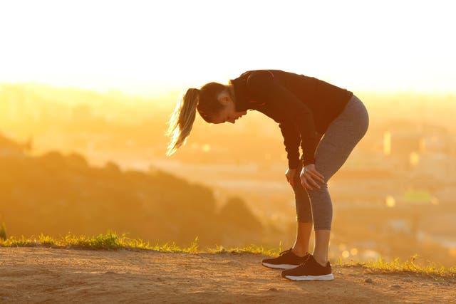 woman, post-run