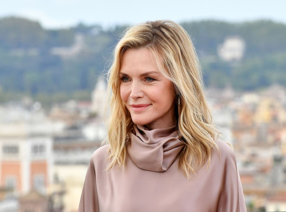 <p>Michelle Pfeiffer: 'As we like to say, this is not your grandmother's floral'</p>