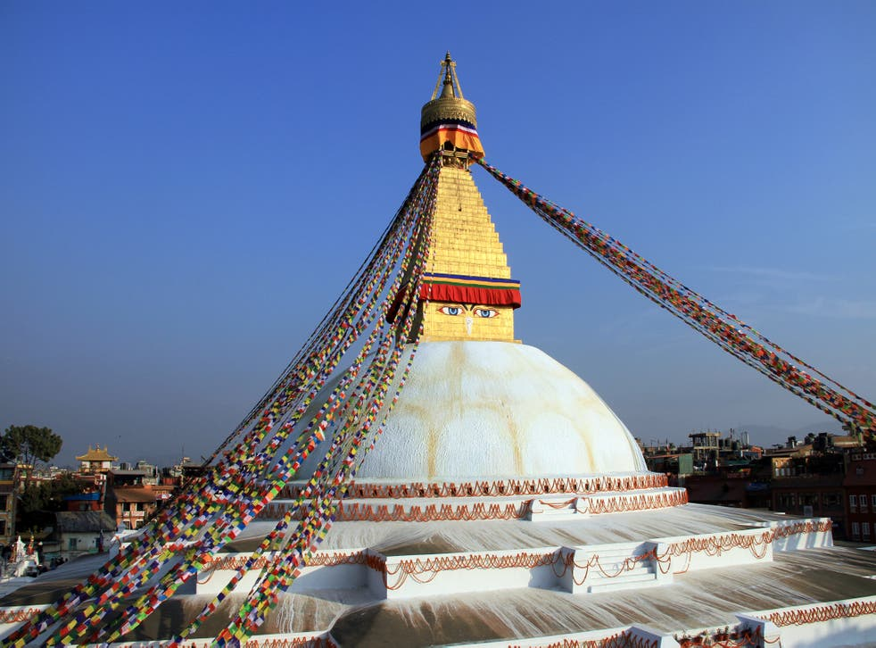 <p>The eyes have it: the beautiful Boudhanath Stupa, fully restored within 18 months of the Gorkha earthquake</p>