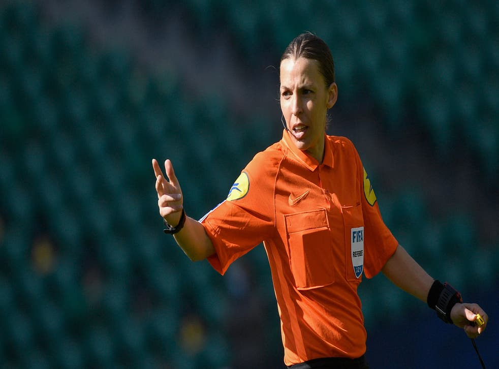 <p>Stephanie Frappart has also refereed matches in Ligue 1 this season</p>