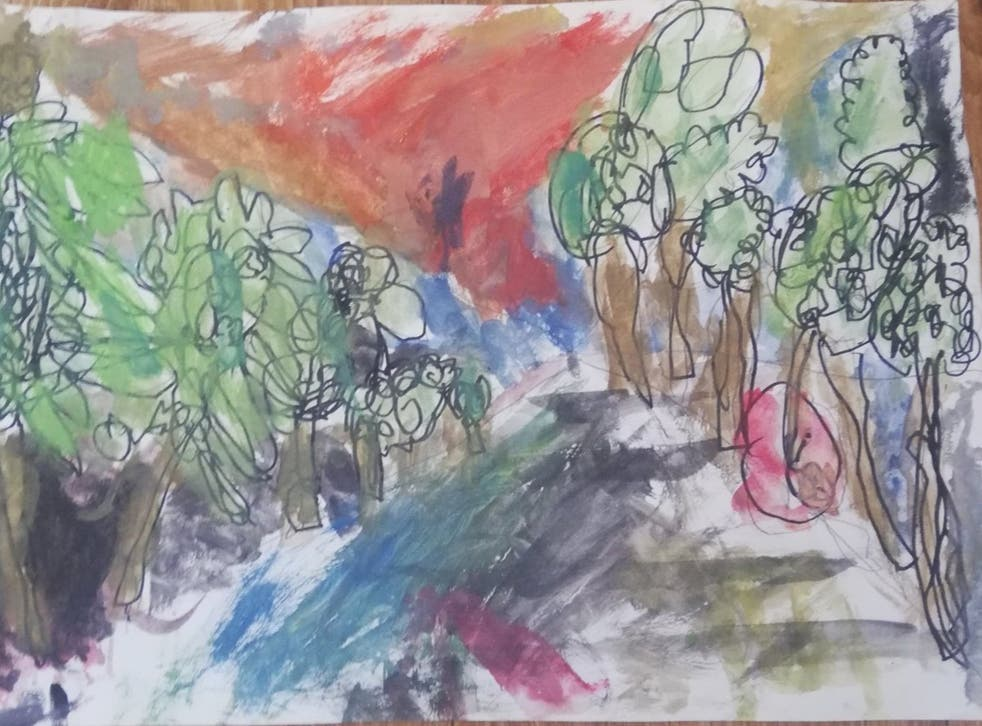 <p>The little girl's artwork was hailed as 'provocative and engaging'</p>