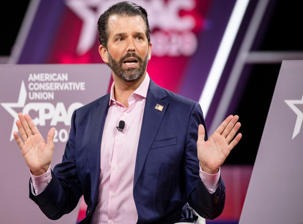 <p>Donald Trump Jr posted a video which says: 'When Democrats are in charge, no one is safe'</p>