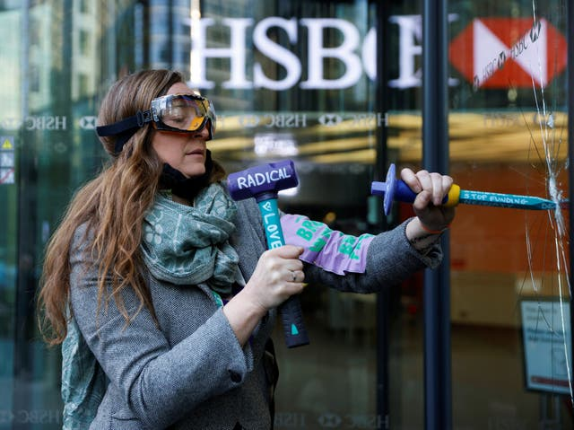 <p>HSBC has been targeted by activists over its financial support for fossil fuels</p>