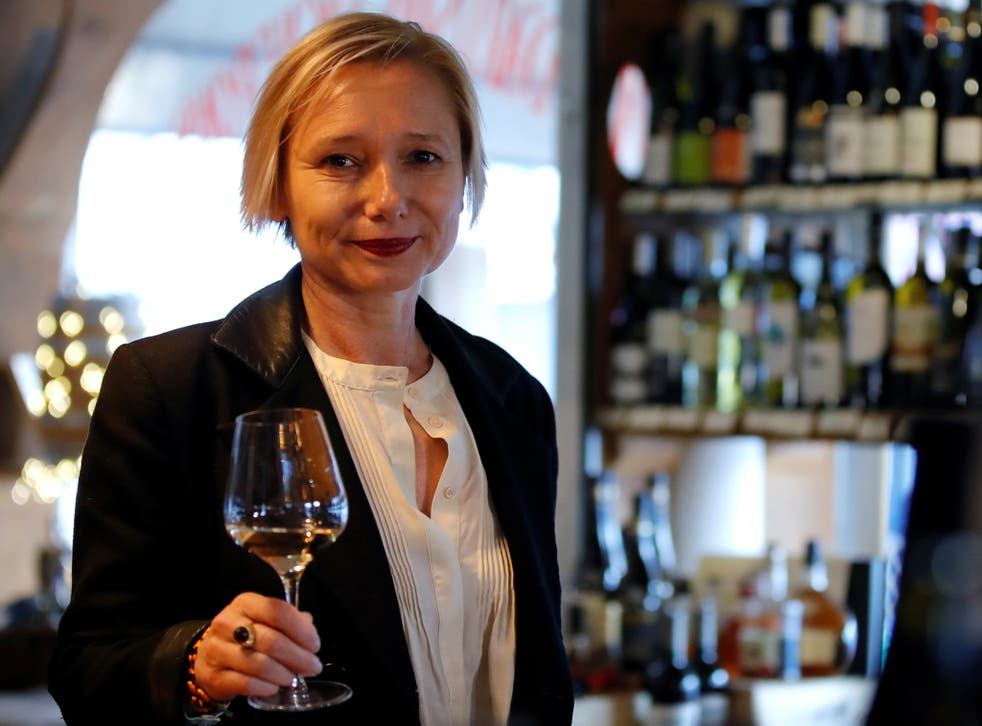 <p>On the nose: French oenologist Sophie Pallas lost her sense of taste and smell after been infected with the coronavirus</p>