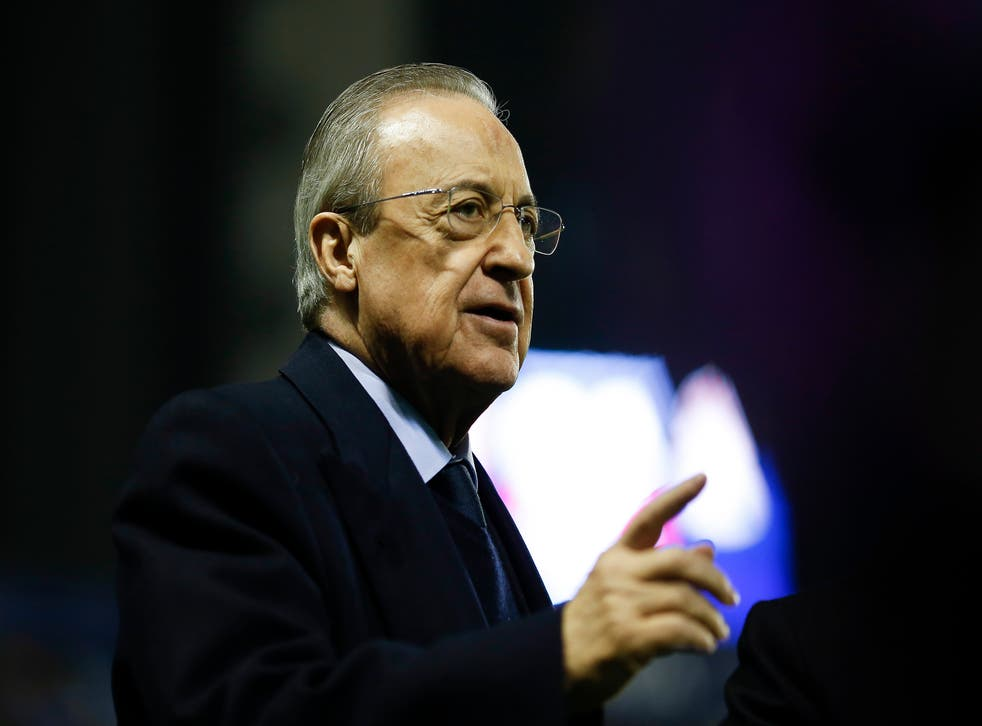 "<p>Real Madrid president Florentino Perez says he has tried to ""save football"" with the Super League proposals </p>"