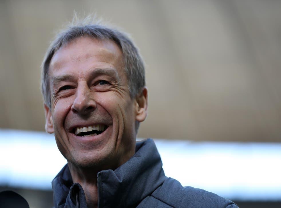 <p>Jurgen Klinsmann managed Hertha Berlin for 10 games last season</p>