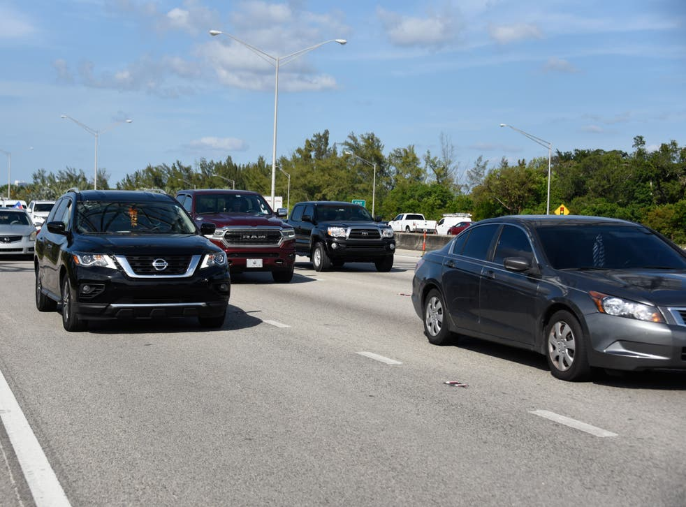 <p>Cars on Interstate 95 in Florida</p>