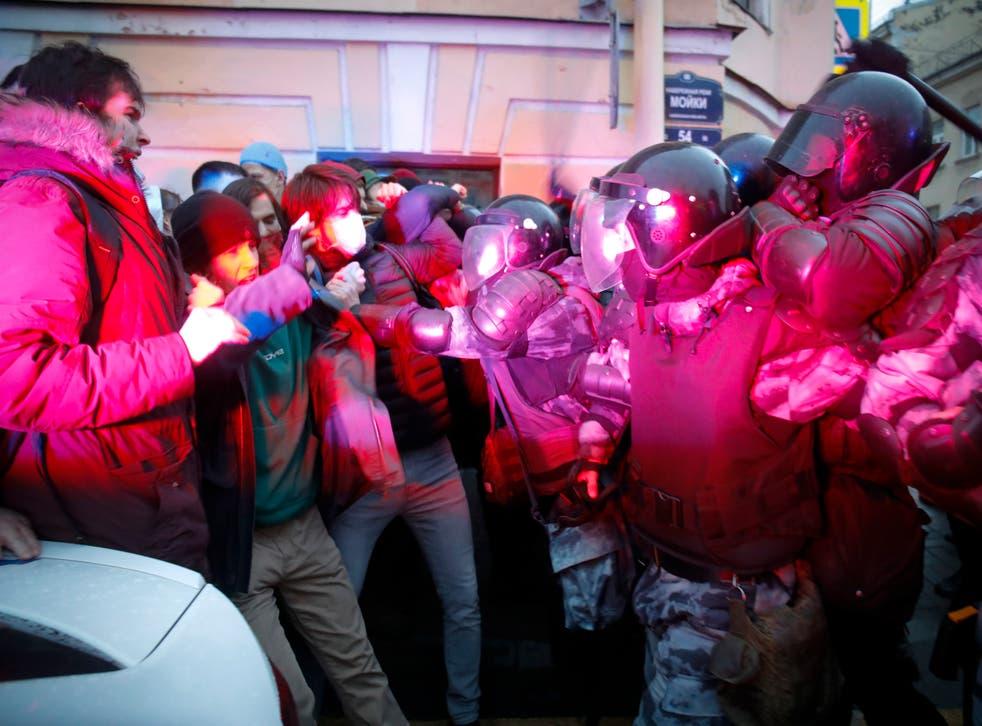 APTOPIX Russia Navalny Protests
