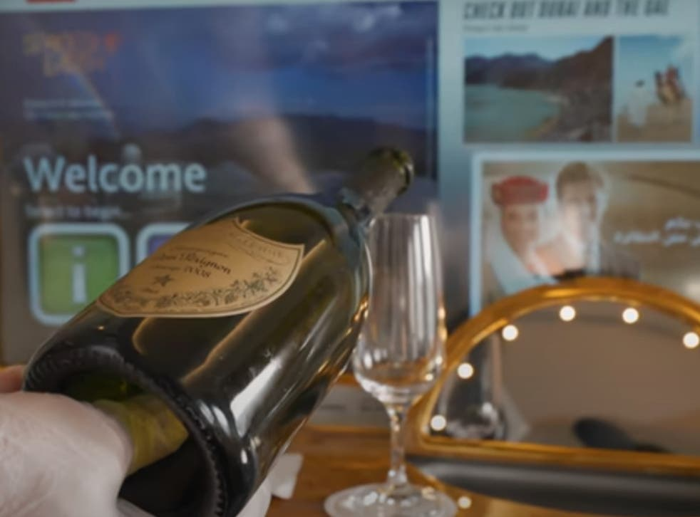 Champagne? Flying first-class comes with perks