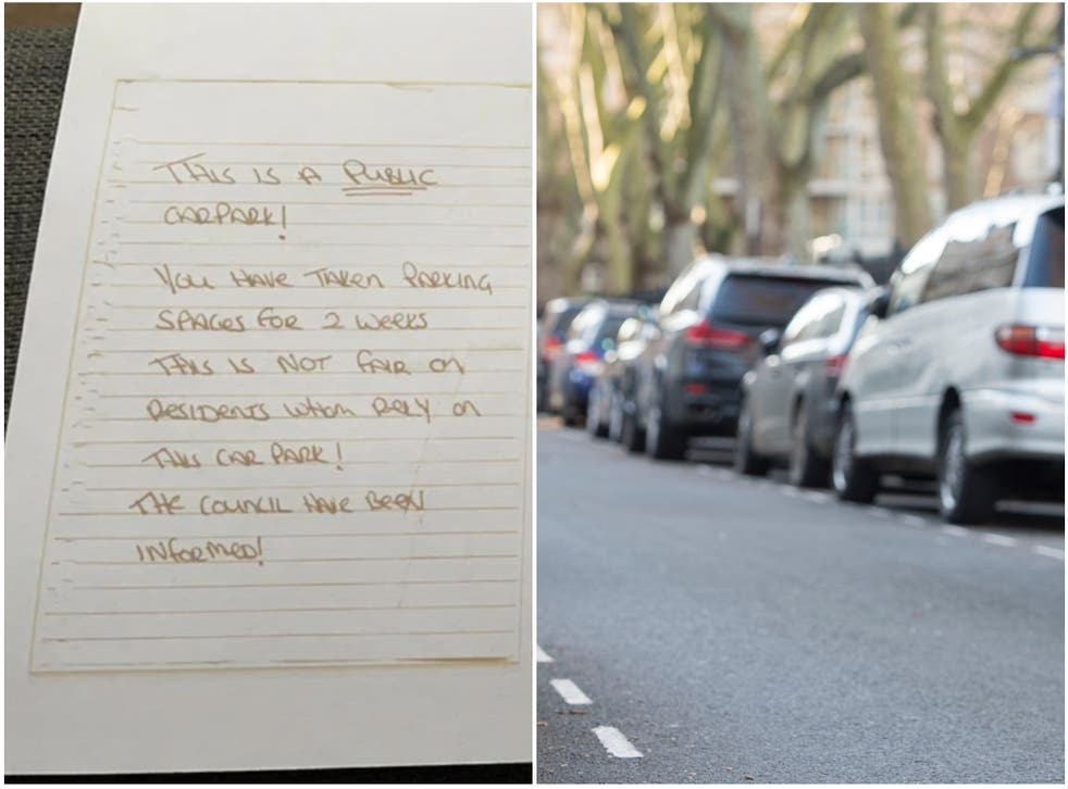 <p>The neighbour received a lengthy and courteous reply to their angry car parking complaint </p>