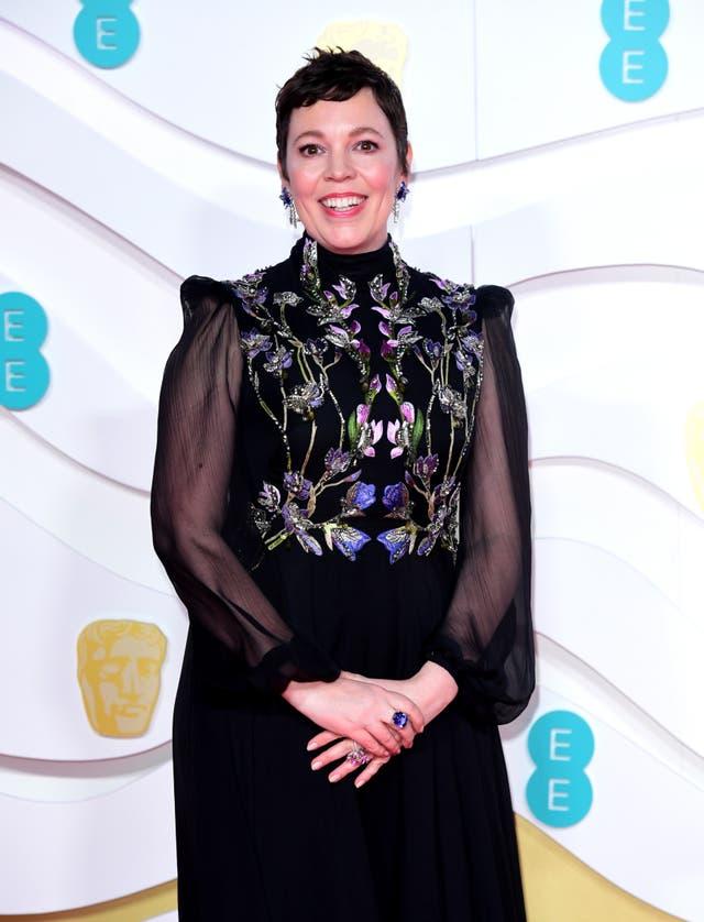 Olivia Colman attending the 73rd British Academy Film Awards
