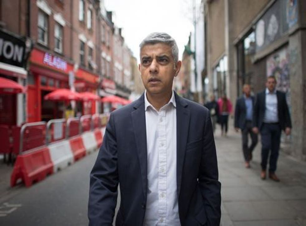 <p>Sadiq Khan, who was first elected in 2016, is running for a second term as mayor of London</p>