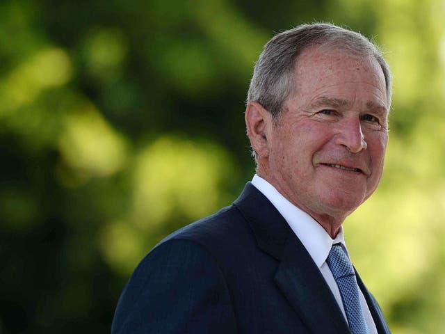 <p>Former US president George Bush</p>