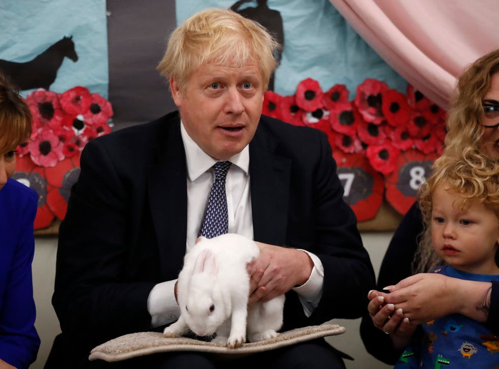 Boris Johnson, who used a rabbit at a school visit in 2019 election campaigning, derided 'bunny-huggers'