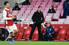 Arsenal manager Mikel Arteta criticises 'terrible' home form after defeat by Everton
