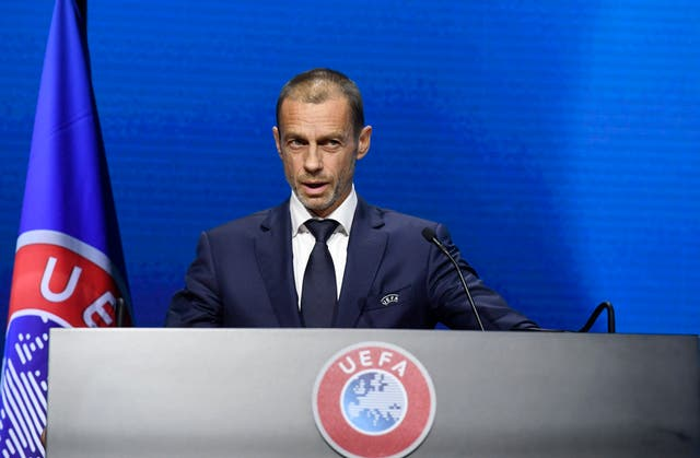 <p>Ceferin is discussing the new Champions League plans</p>
