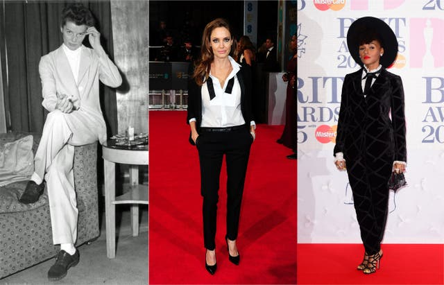 Composite of Katharine Hepburn, Angelina Jolie and Janelle Monae