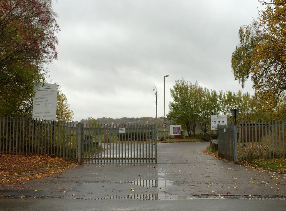 <p>Walleys landfill near Newcastle-under-Lyme in North Staffordshire</p>