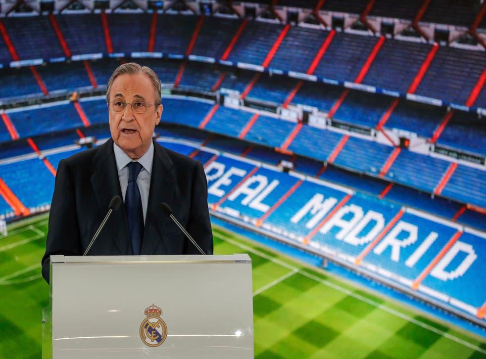 <p>Real Madrid president Florentino Perez was the ESL's architect</p>