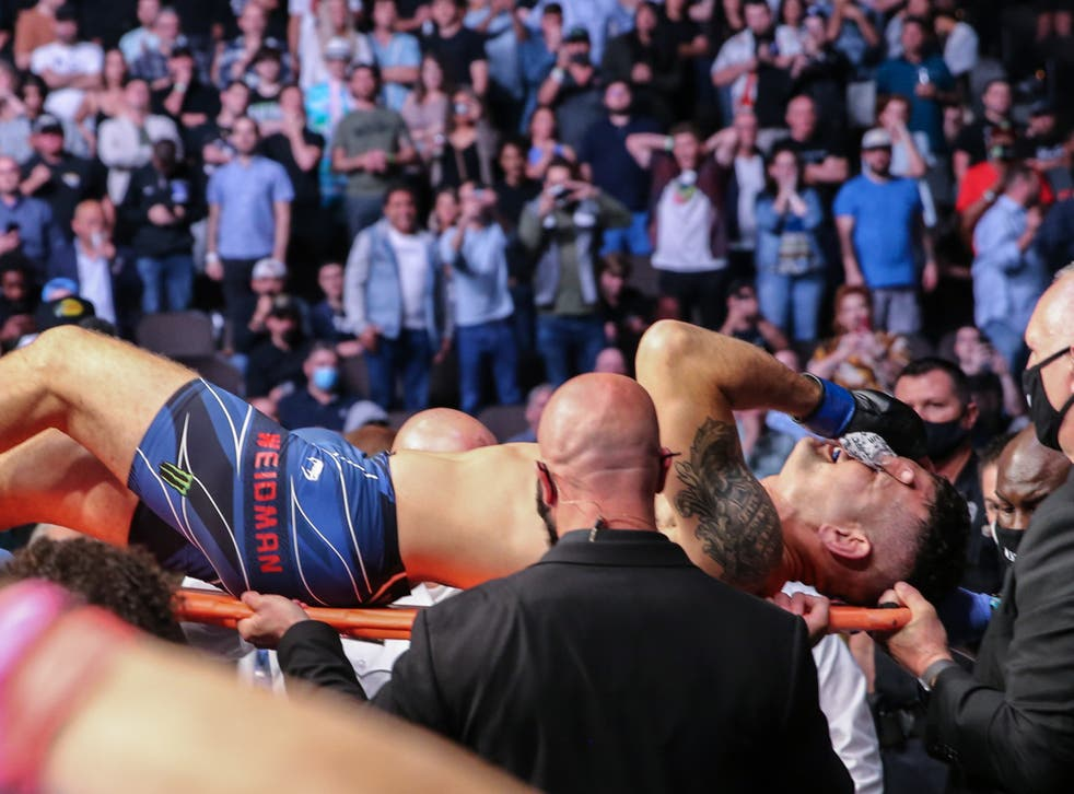 Chris Weidman was taken to hospital and will undergo surgery tomorrow