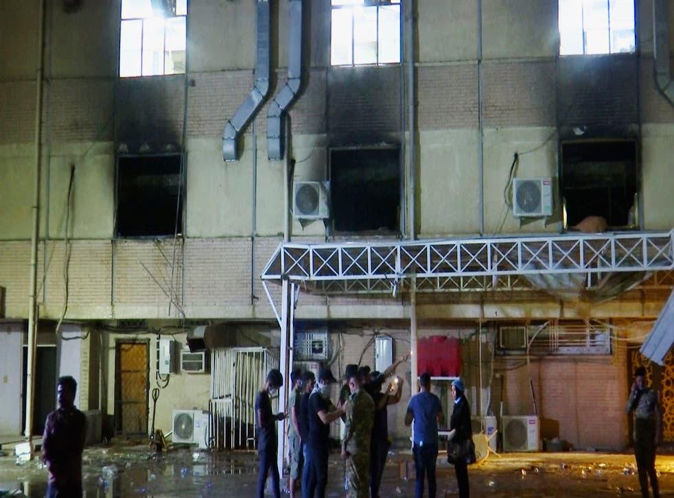 IRAK-INCENDIO HOSPITAL