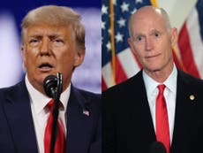 Rick Scott says he gave Trump a 'Champion of Freedom Award' because he 'worked hard'