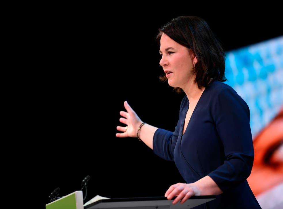 <p>German Green candidate Annalena Baerbock </p>