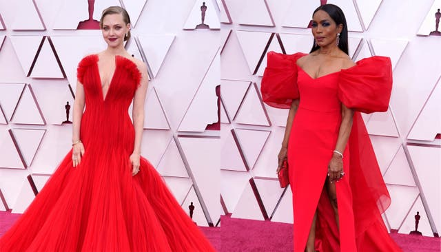 Amanda Seyfried (L) and Angela Bassett at the Oscars