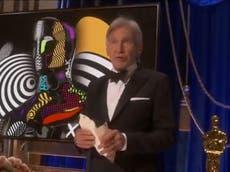Premios Óscar 2021: Harrison Ford lee las críticas hacia Blade Runner mientras presenta premio a mejor edición