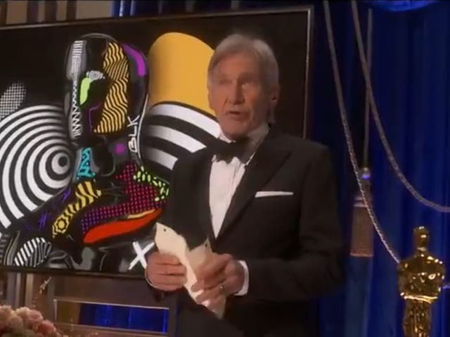 Harrison Ford appearing at the 93rd Academy Awards