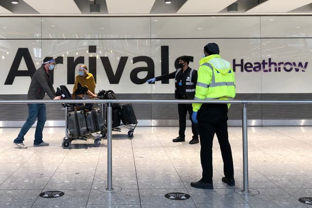 <p>File Image: Passengers arrive at Heathrow Airport, London</p>