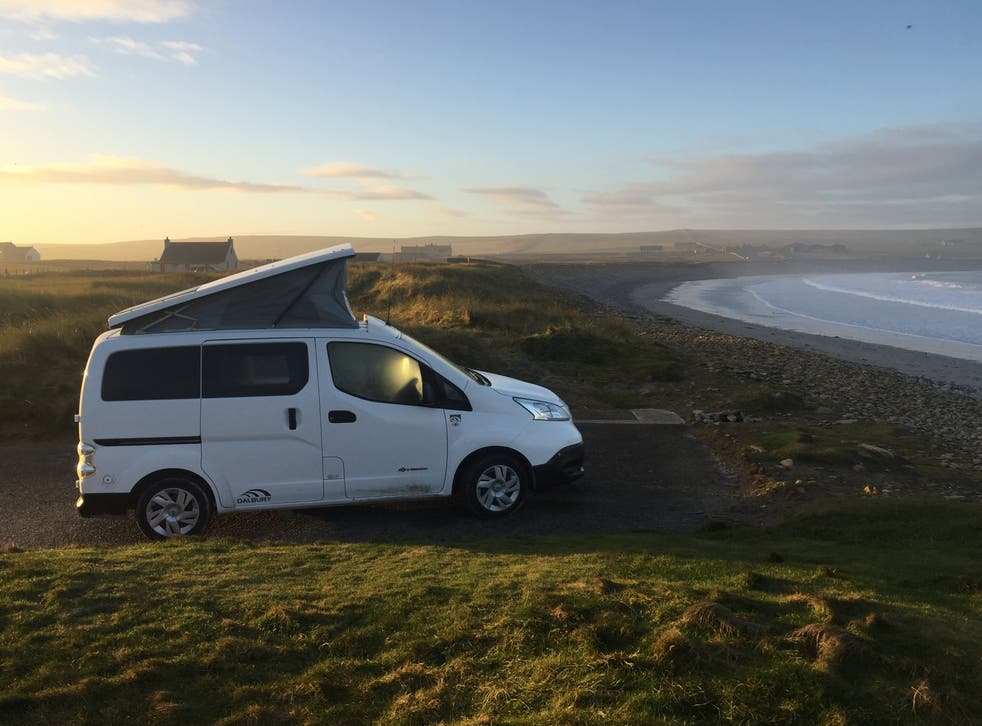 Green machine: One of Orkney's electric campervans