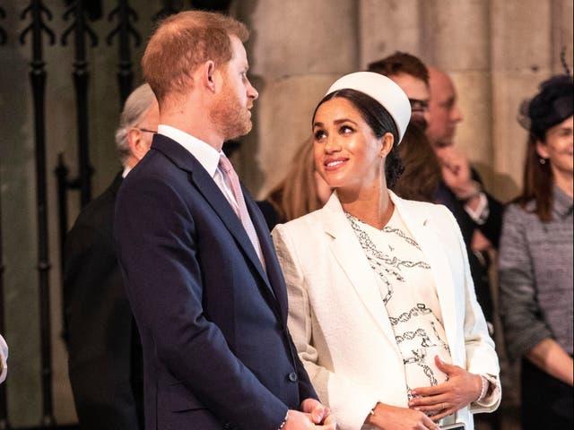 El príncipe Harry y Meghan en marzo de 2019