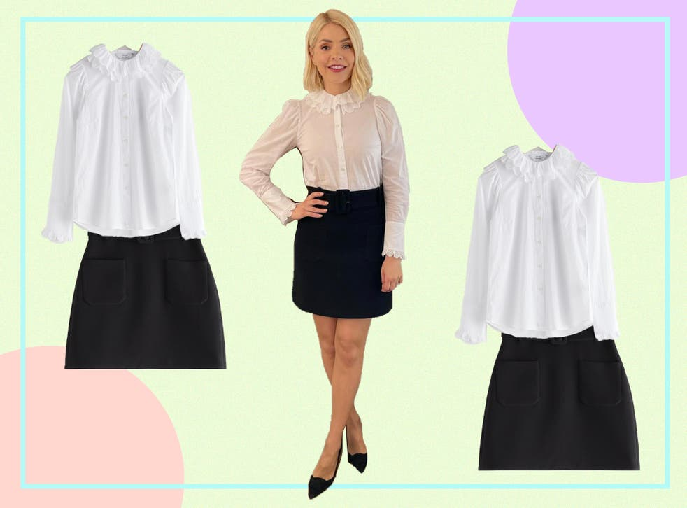 <p>The presenter and her stylist have opted for a more smart approach to today's look</p>